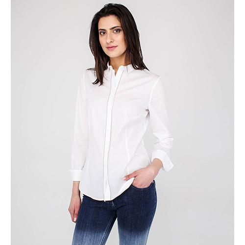 22845ac6cd3 ☆ Хлопковая рубашка Peserico белого цвета купить в Киеве