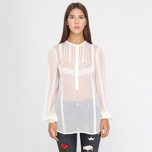 7f89e0f28475 ☆ Прозрачная блуза Ermanno Ermanno Scervino из шелка tol-od-23-er ...