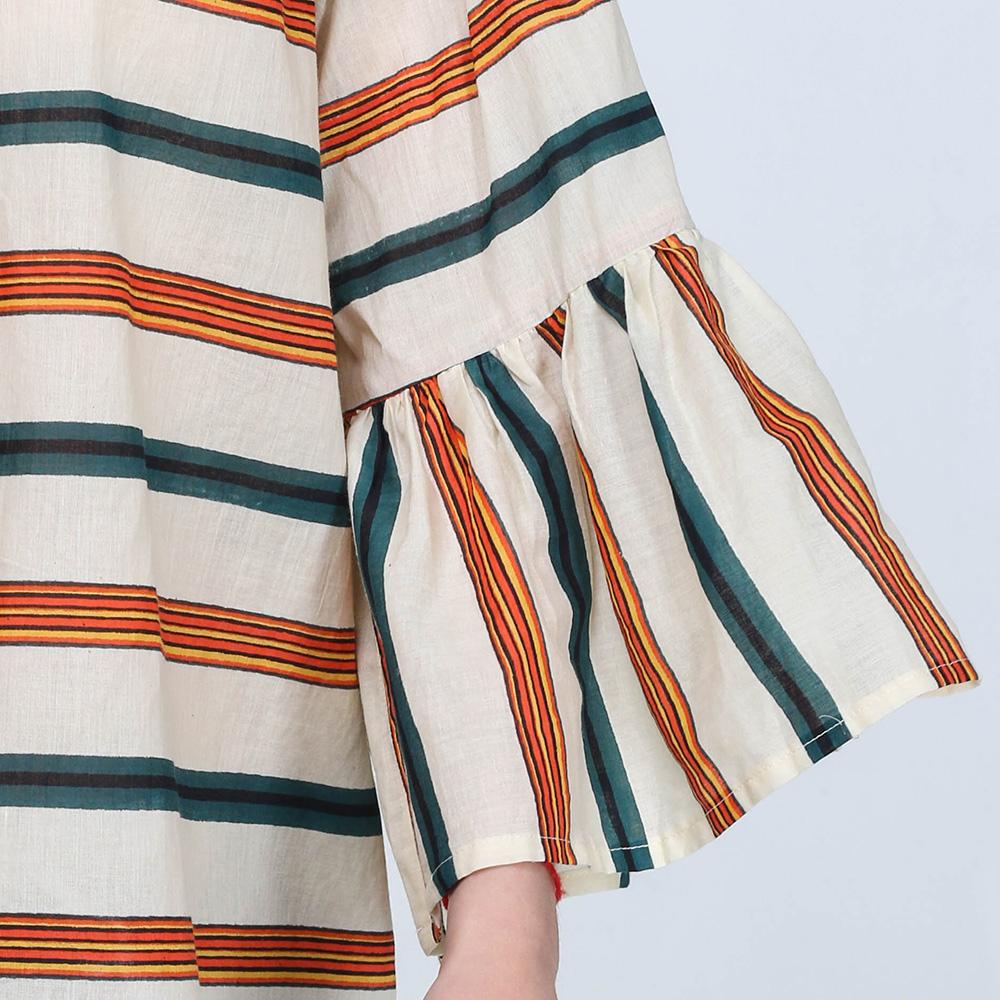 Блузка Emma&Gaia в оранжево-синюю полоску