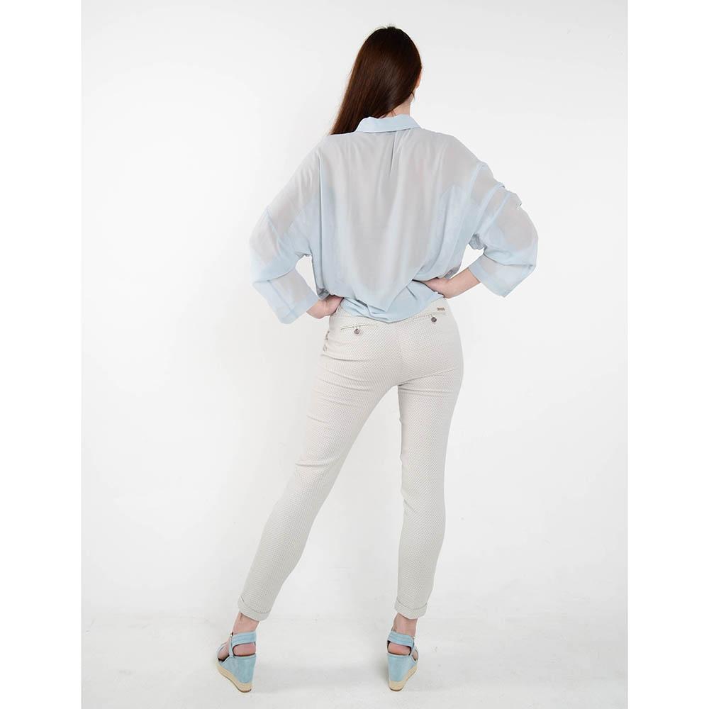 Голубая блуза Who Is Who с вышивкой