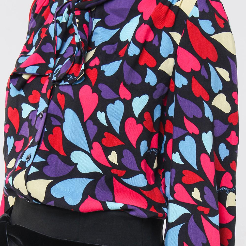 Блуза Love Moschino с бантом на шее