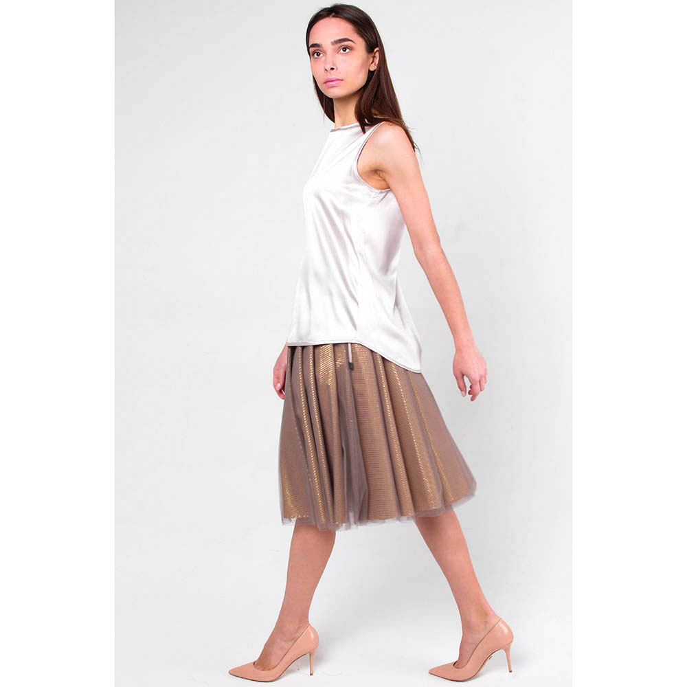 Шелковая блуза Peserico с коротким рукавом