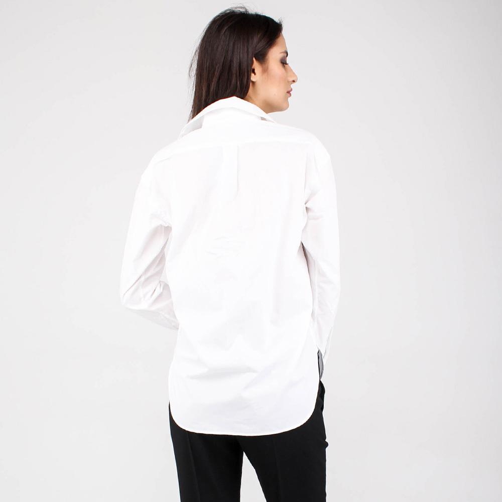 Белая хлопковая рубашка Polo Ralph Lauren со шнуровкой