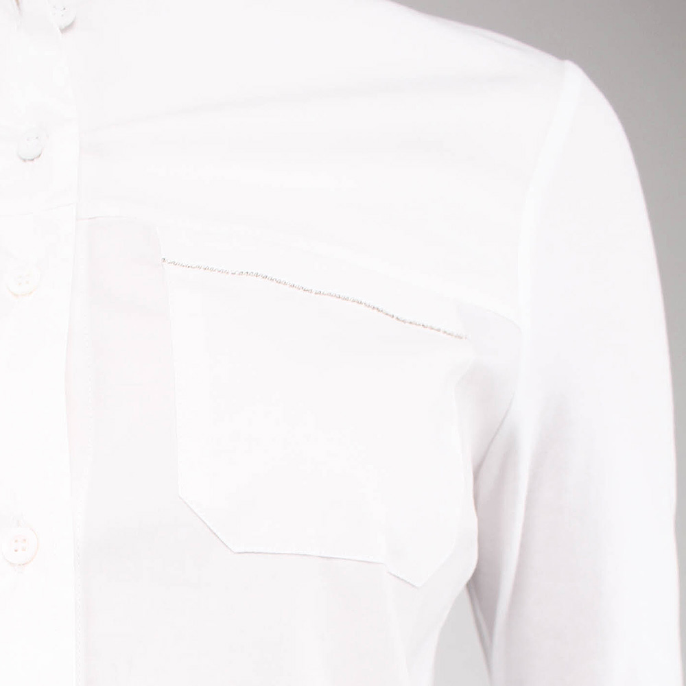 Белая рубашка Peserico с длинным рукавом