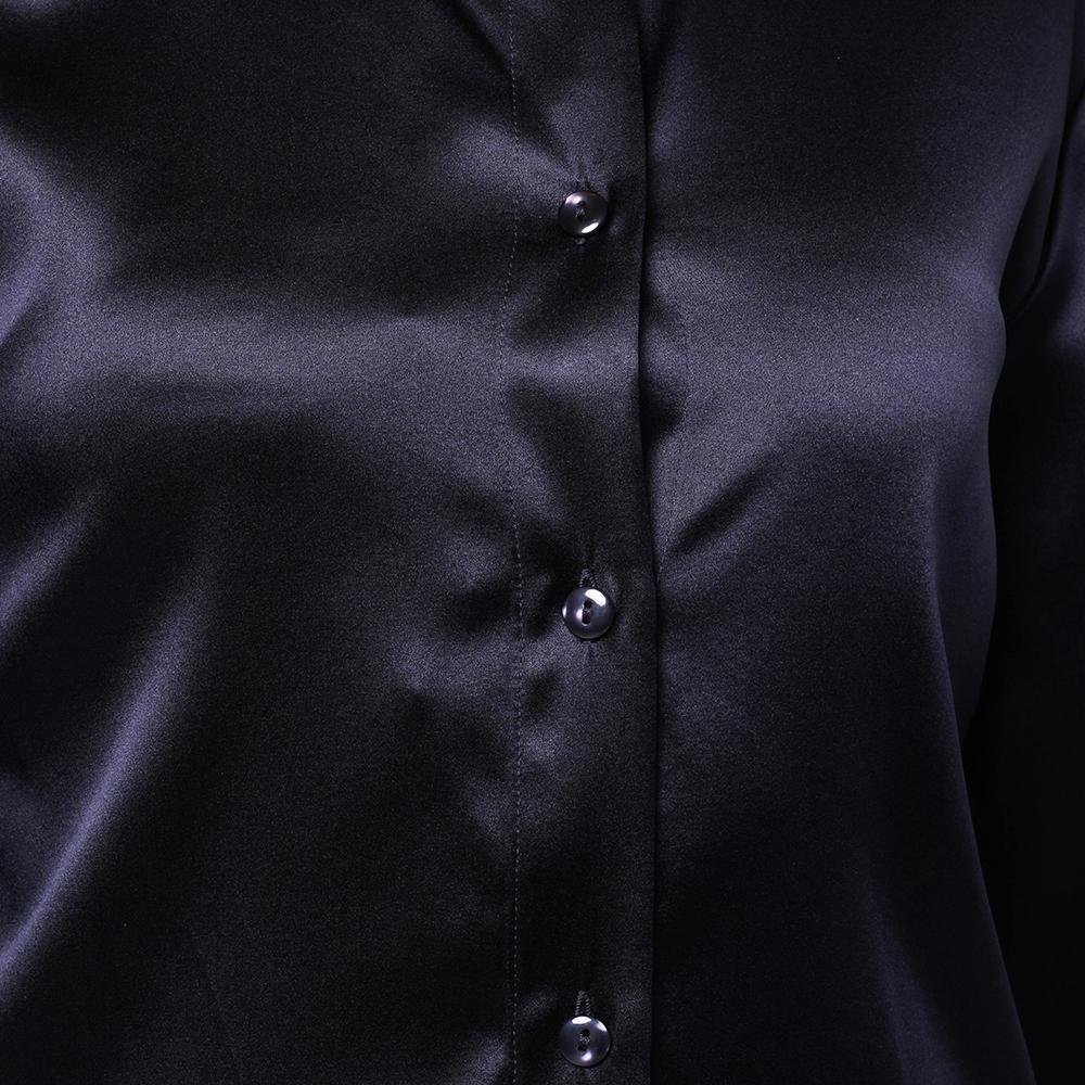 Темно-синяя рубашка Emporio Armani прямого кроя