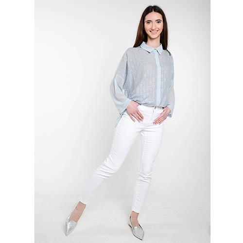 Голубая блуза Who Is Who с вышивкой, фото