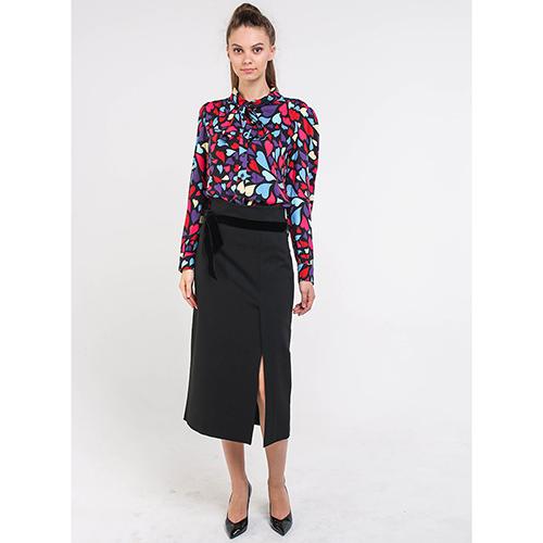 Блуза Love Moschino с бантом на шее, фото