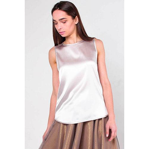 Шелковая блуза Peserico с коротким рукавом, фото