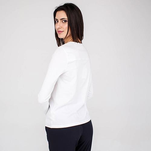 Белая рубашка Peserico с длинным рукавом, фото