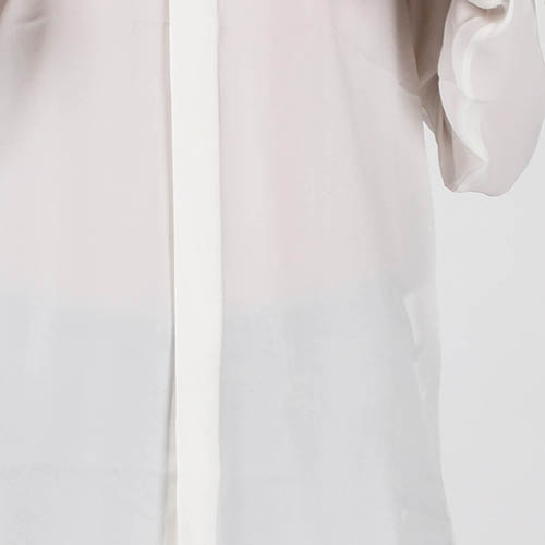 a590f2a4af3 ☆ Белая шелковая рубашка Polo Ralph Lauren с воротником-стойкой ...