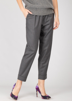Шерстяные брюки GD Cashmere серого цвета, фото