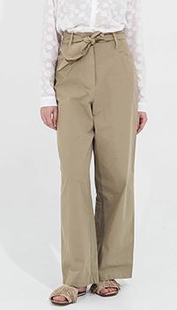 Широкие брюки Peacock Blue с высокой талией, фото