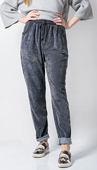 Серые брюк Tensione in велюровые, фото