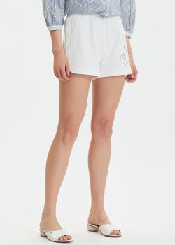 Белые шорты Liu Jo с вышивкой и стразами, фото