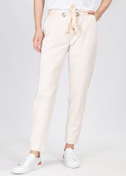 Трикотажные брюки Airfield молочного цвета, фото