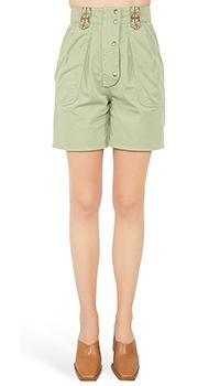 Зеленые шорты Etro с накладными карманами, фото