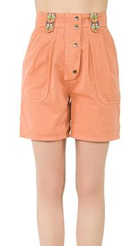 Оранжевые шорты Etro с защипами, фото