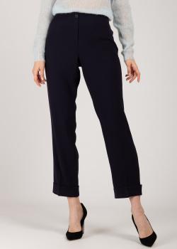 Прямые брюки Riani темно-синего цвета, фото