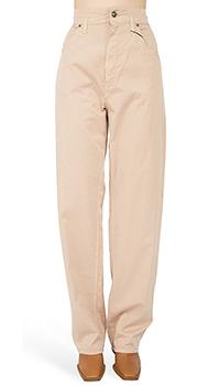 Бежевые брюки Etro  с высокой талией, фото