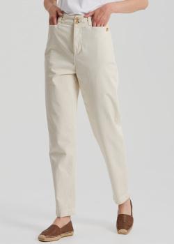 Прямые брюки Etro молочного цвета, фото