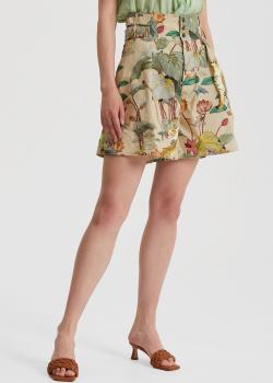 Шорты-бермуды Etro с цветочно-анималистическим принтом, фото