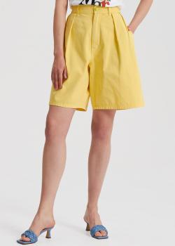 Шорты-бермуды Etro желтого цвета, фото