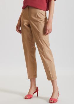 Укороченные брюки Riani бежевого цвета, фото