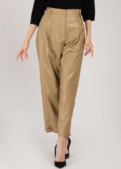 Бежевые брюки Dorothee Schumacher из искусственной кожи, фото