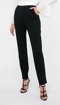Черные зауженные брюки Shako с защипами, фото