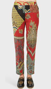 Шерстяные брюки Etro с цветным принтом, фото