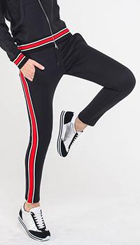 Черные спортивные брюки Quantum Courage с лампасами, фото