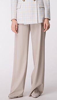 Широкие брюки Shako светло-серого цвета, фото