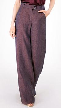 Широкие брюки Shako из льна фиолетового цвета, фото