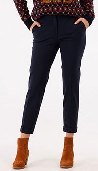 Темно-синие брюки Etro со стрелками, фото