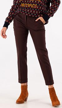 Укороченные брюки Etro коричневого цвета, фото