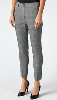 Классические женские брюки Sfizio серого цвета в клетку, фото