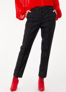 Укороченные брюки Nina Ricci темно-серого цвета, фото