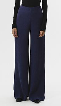 Синие брюки-клеш Shako с высокой талией, фото