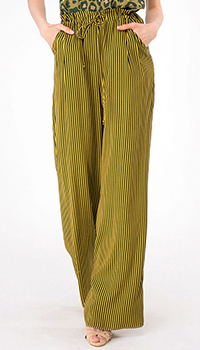 Полосатые брюки Shako с высокой талией на кулиске, фото