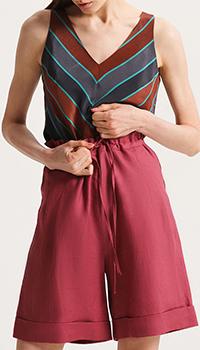Бордовые шорты Shako из льна, фото