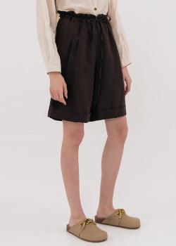 Льняные шорты Shako коричневого цвета, фото