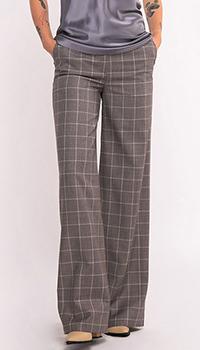 Прямые брюки Shako в клетку серого цвета, фото