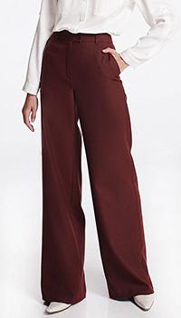 Бордовые широкие брюки Shako, фото