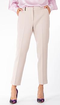 Бежевые брюки Peserico со стрелками, фото
