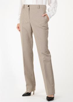 Клетчатые брюки Nina Ricci со стрелками, фото