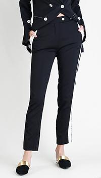 Укороченные брюки Beatrice.B с белыми лампасами, фото