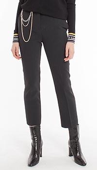 Черные брюки Pinko с декором-цепью, фото
