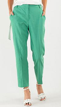 Брюки-чинос Pinko зеленого цвета, фото