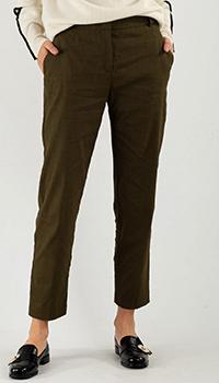 Укороченные брюки Pinko цвета хаки, фото