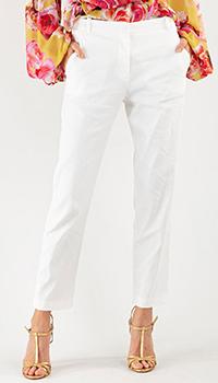 Женские брюки Pinko из белого льна, фото